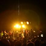 Les fans sur scène