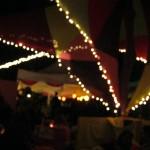 L'Ambient Tent et ses guirlandes lumineuses