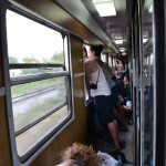 Le train bondé vers Zagreb
